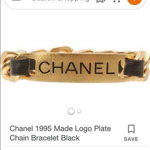 ❤️TRADED❤️CHANEL name plate chain vintage bracelet